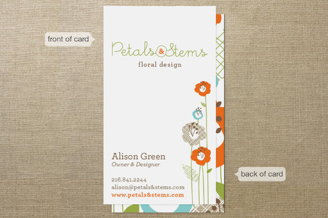 Petals & Stems Business Cards