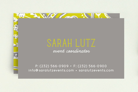 Pop paisley business cards by laura hankins minted pop paisley business cards colourmoves