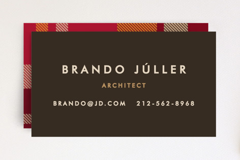 Savant Plaid Business Cards