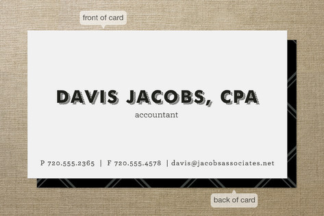 The Accountant Business Cards