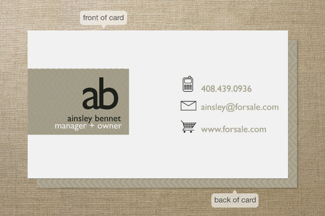 Monogram logo business cards by r studio minted monogram logo business cards reheart Gallery