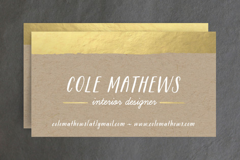 Gold dip business cards by hooray creative minted gold dip business cards colourmoves