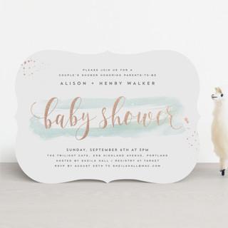 Modernista Foil-Pressed Baby Shower Invitations