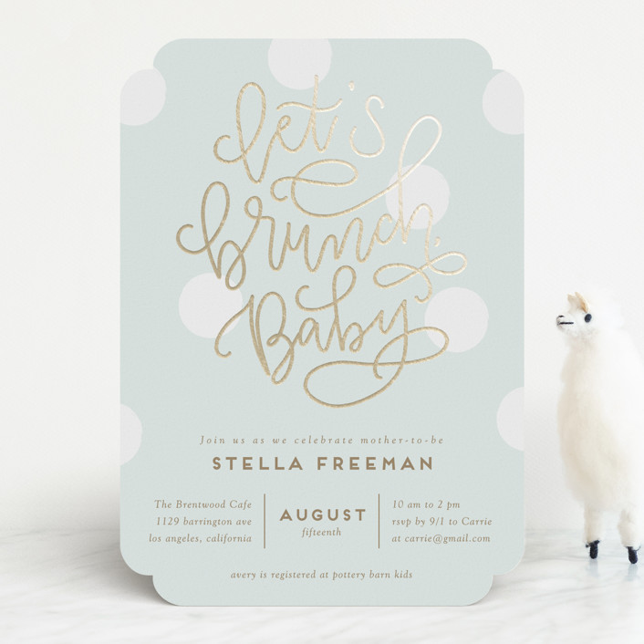 Foil Pressed Baby Shower Invitations