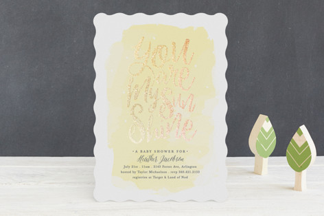 You Are My Sunshine Foil-Pressed Baby Shower Invitations