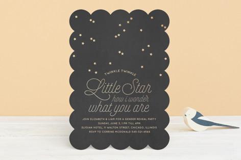 Wonder Foil-Pressed Baby Shower Invitations