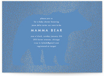 This is a blue foil stamped baby shower invitation by Baumbirdy called Classic Bear with foil-pressed printing on signature in standard.