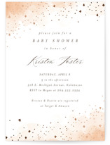 This is a brown foil stamped baby shower invitation by Pixel and Hank called Wash Watercolor with foil-pressed printing on signature in standard.