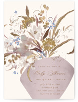 This is a purple foil stamped baby shower invitation by Grace Kreinbrink called Modern Vase with foil-pressed printing on signature in standard.