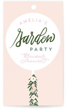This is a pink gift tag by Itsy Belle Studio called Garden Balloon with standard printing on signature in tag.