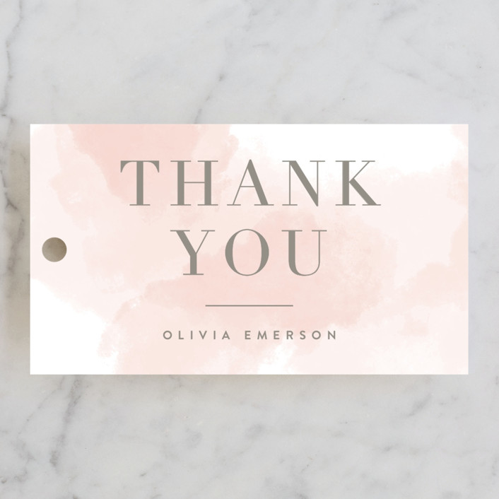 """""""Engaging"""" - Bridal Shower Favor Tags in Blush by Kristie Kern."""
