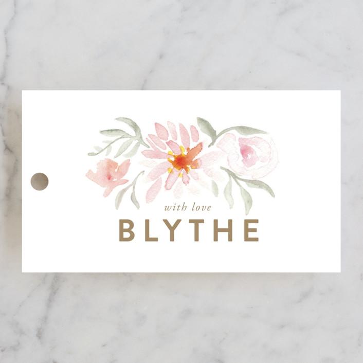 """Parfumerie"" - Bridal Shower Favor Tags in Petal by Smudge Design."