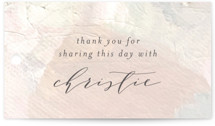 This is a beige gift tag by Phrosne Ras called gilded pastel painting with standard printing on signature in tag.