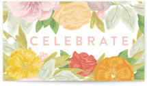 This is a green gift tag by Shiny Penny Studio called Floral Bride Banner with standard printing on signature in tag.