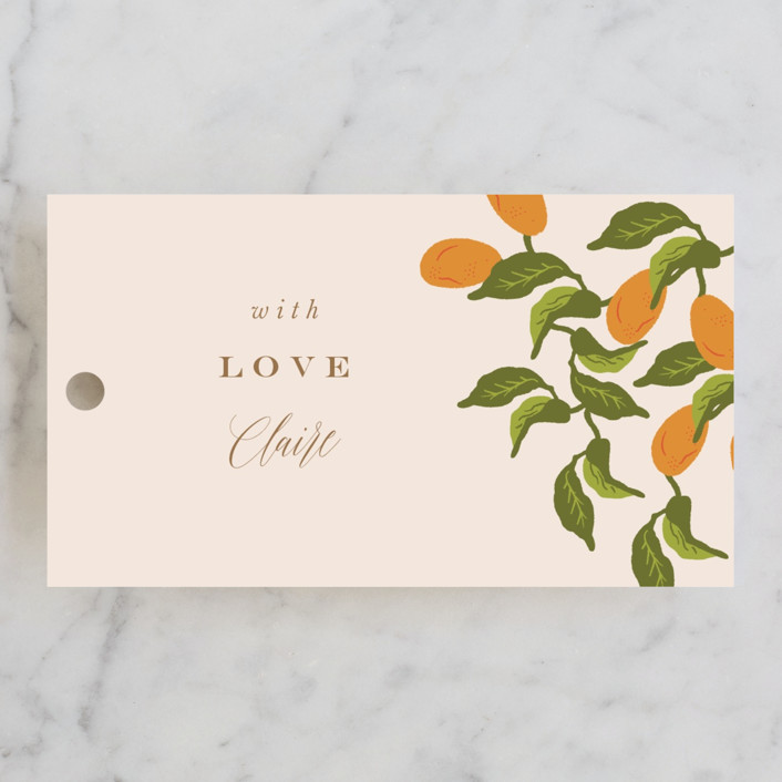 """""""Kumquat"""" - Bridal Shower Favor Tags in Blush by Nazia Hyder."""