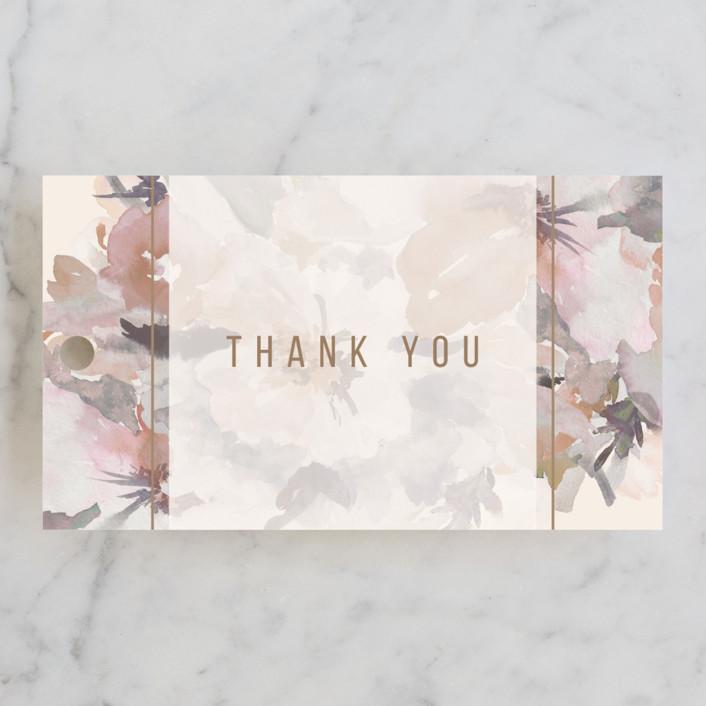 """""""Subtle Blooms"""" - Bridal Shower Favor Tags in Blush by Grace Kreinbrink."""