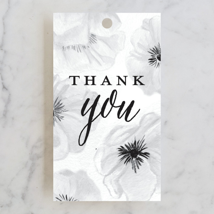 """""""Ink Plate Floral Frame"""" - Bridal Shower Favor Tags in Ink Plate by Shiny Penny Studio."""