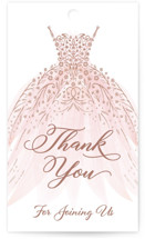 This is a pink gift tag by Paper Sun Studio called floral spray with standard printing on signature in tag.