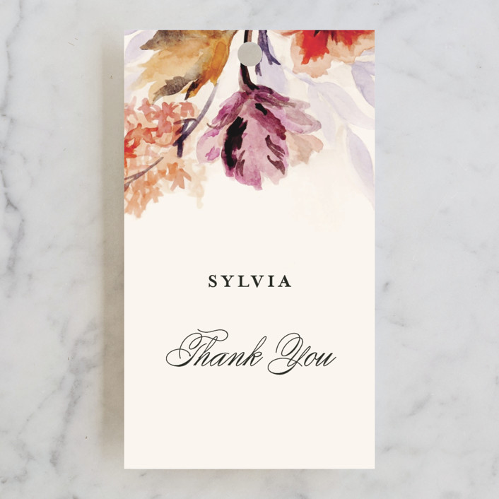 """""""Grecian Floral"""" - Bridal Shower Favor Tags in Tulip by Olivia Kanaley."""