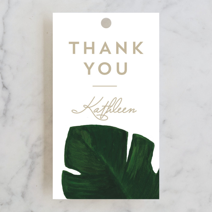 """Palm"" - Bridal Shower Favor Tags in Classic Palm by Kaydi Bishop."