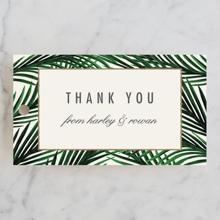 """""""Tropical Love"""" - Bridal Shower Favor Tags in Ivory by Elly."""