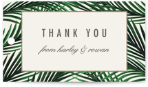 This is a beige gift tag by Elly called Tropical Love with standard printing on signature in tag.