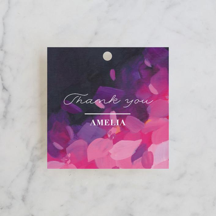 """Azalea"" - Bridal Shower Favor Tags in Azalea by Holly Whitcomb."