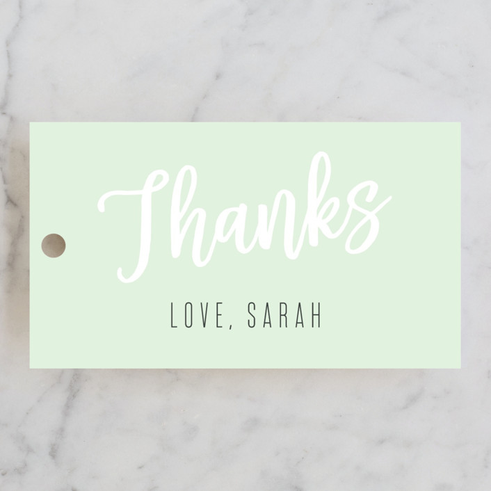 """""""Modern Bride"""" - Bridal Shower Favor Tags in Lime by Chasity Smith."""