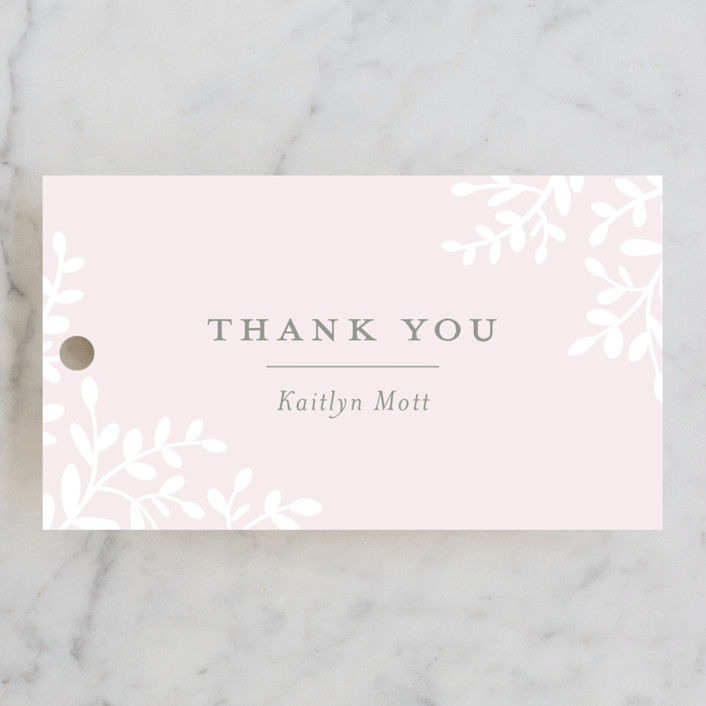 """Frondescence"" - Bridal Shower Favor Tags in Blush by Sarah Brown."