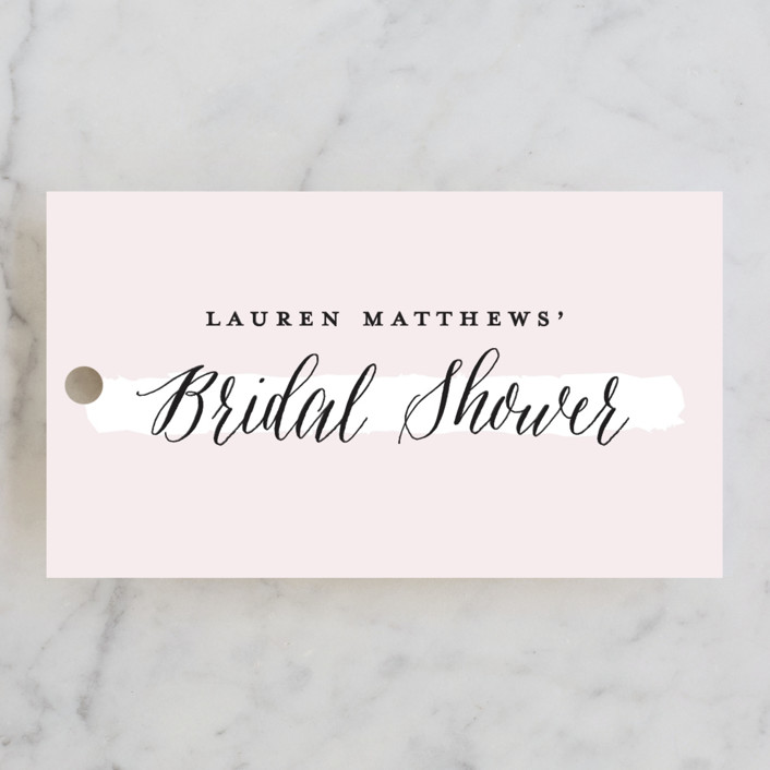 """Dotted"" - Bridal Shower Favor Tags in Rose by Michelle Taylor."