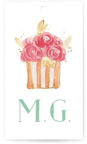 This is a green Bridal Shower Favor Tags by Benita Crandall called Princess cake with Standard printing on Signature in Tag Flat Card format. This fresh bridal shower invitation features a pretty watercolor illustration of a wedding cake, pretty typography ...
