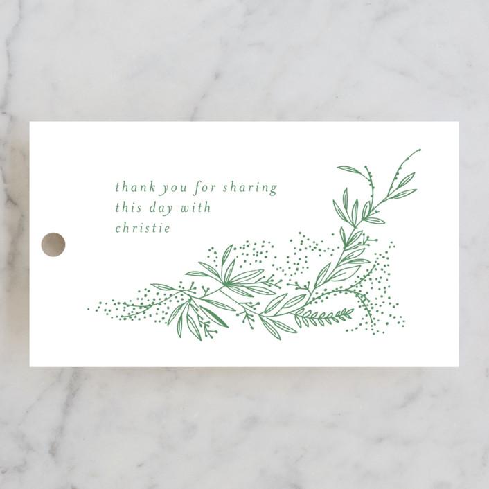 """""""dainty green bride"""" - Bridal Shower Favor Tags in Fresh by Phrosne Ras."""