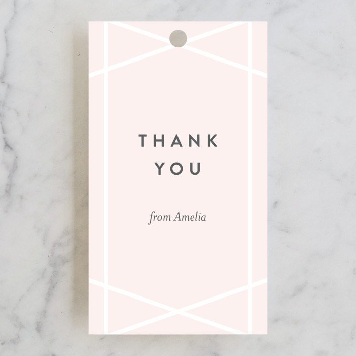 """""""Simplicity"""" - Bridal Shower Favor Tags in Blush by Kampai Designs."""