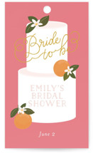 This is a pink gift tag by Itsy Belle Studio called Citrus and  Cake with standard printing on signature in tag.