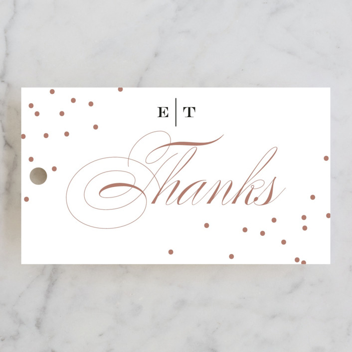 """""""Swish and Swoon"""" - Bridal Shower Favor Tags in Ebony by Carrie ONeal."""