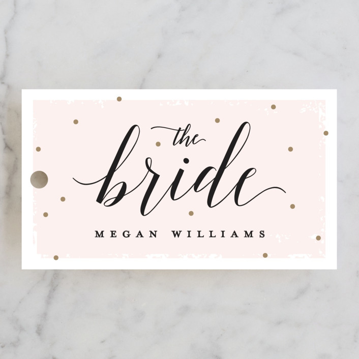 """Emerald Cut"" - Bridal Shower Favor Tags in Blush by Michelle Taylor."