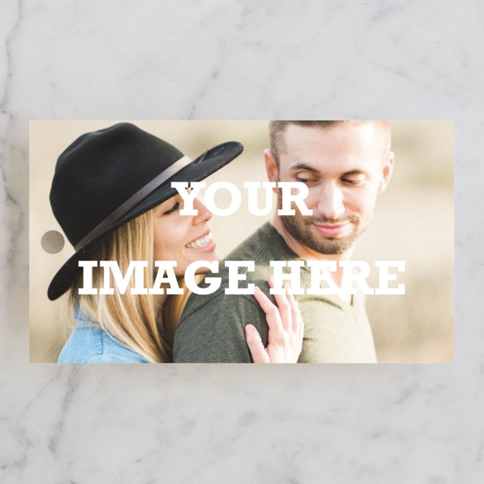 """""""The Big Picture"""" - Bridal Shower Favor Tags in Ivory by Minted."""