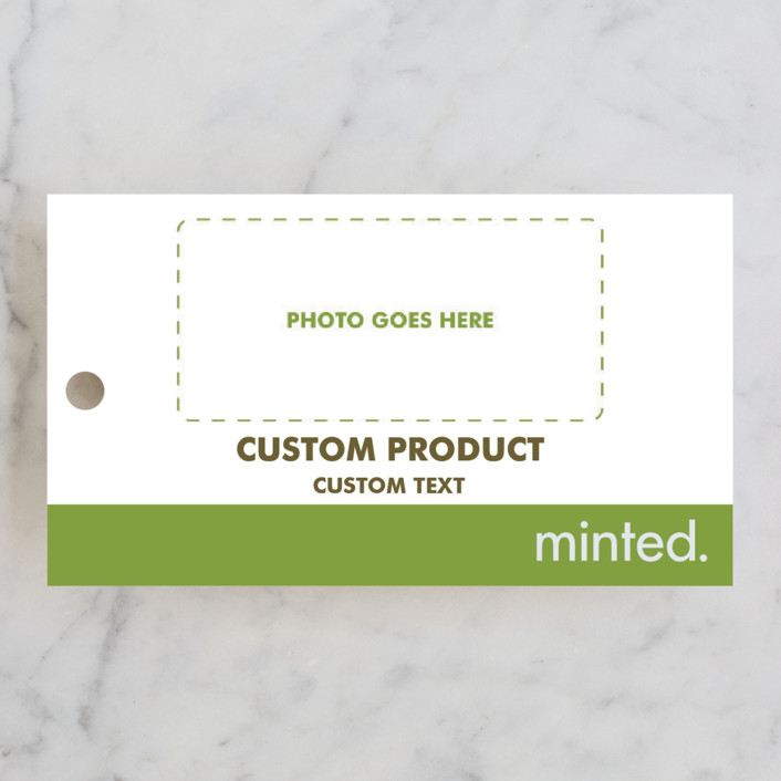 """""""Landscape"""" - Bridal Shower Favor Tags in Charcoal by Minted Custom."""