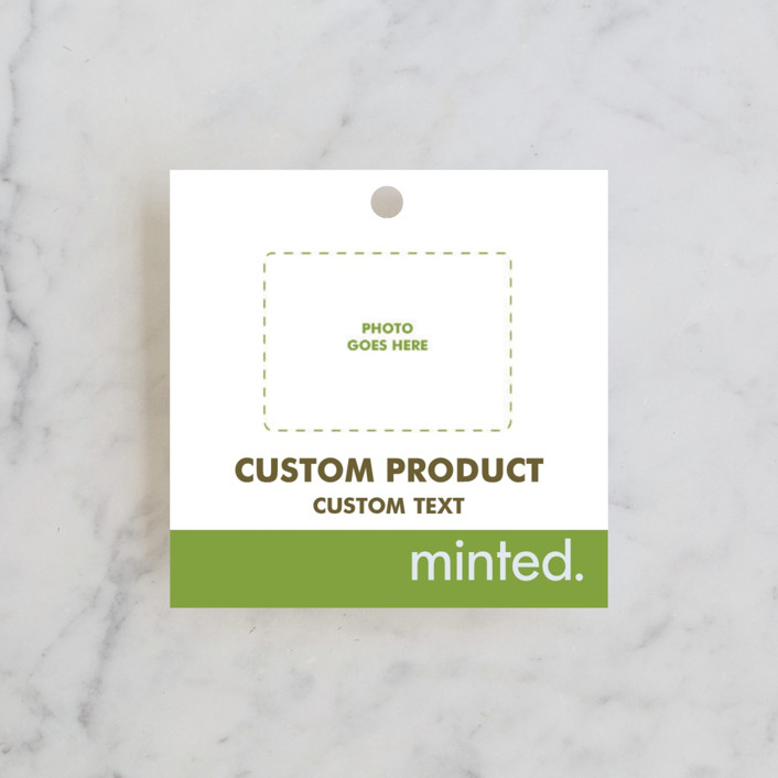 """Square"" - Bridal Shower Favor Tags in Charcoal by Minted Custom."