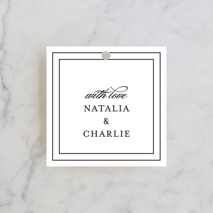 """""""Eloquence"""" - Bridal Shower Favor Tags in Ivory by Kimberly FitzSimons."""
