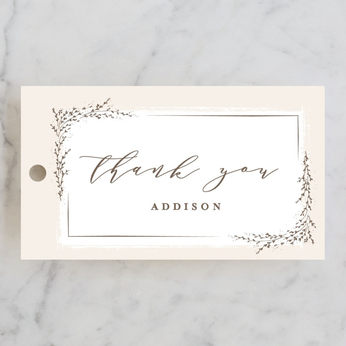 """""""positano"""" - Bridal Shower Favor Tags in Champagne by chocomocacino."""