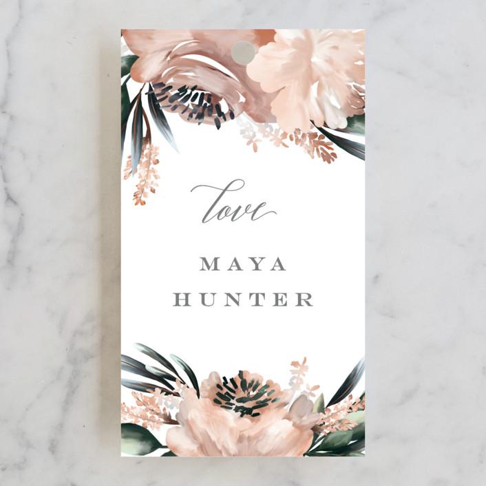 """Maya Rustica"" - Bridal Shower Favor Tags in Rose by Petra Kern."