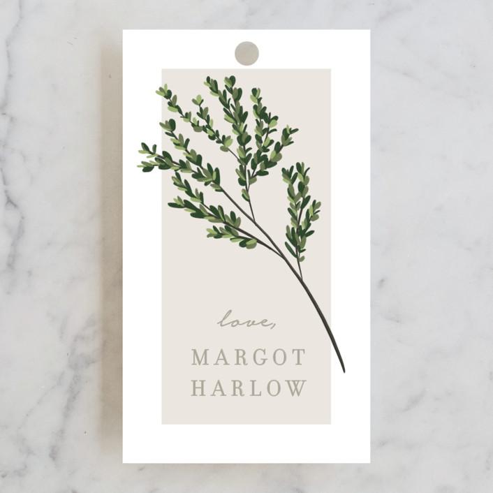 """Watermark"" - Bridal Shower Favor Tags in Cypress by Kaydi Bishop."