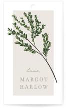 This is a green gift tag by Kaydi Bishop called Watermark with standard printing on signature in tag.