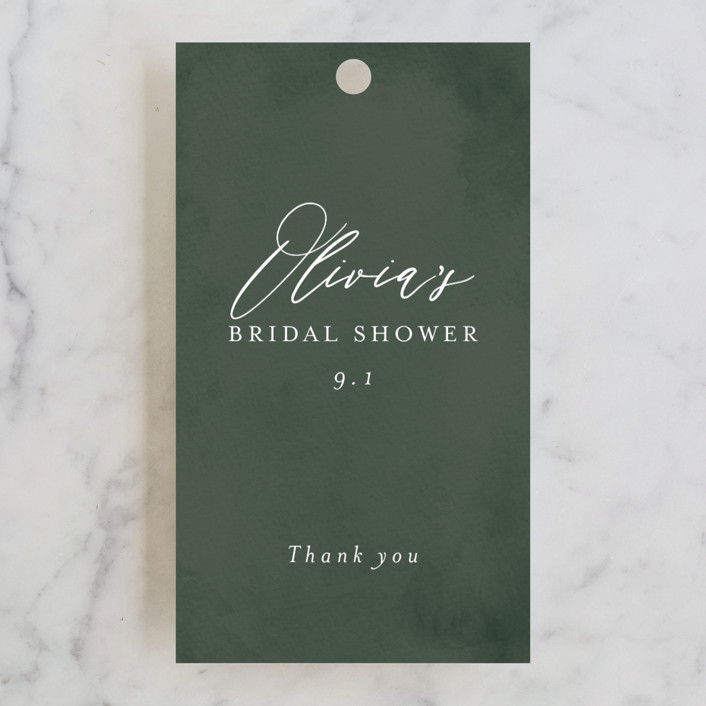 """""""Greenery"""" - Bridal Shower Favor Tags in Forest by Itsy Belle Studio."""