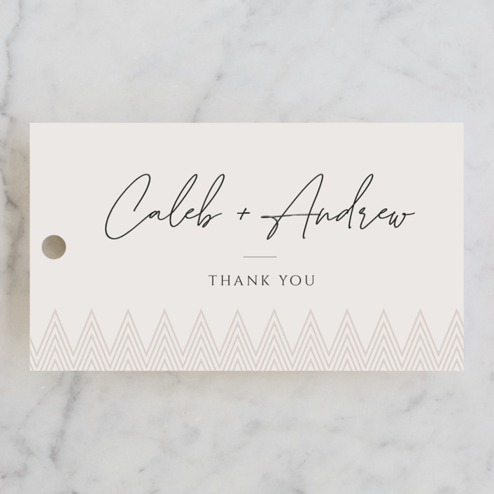 """""""Clean Slate"""" - Bridal Shower Favor Tags in Champagne by Adelyn T.."""