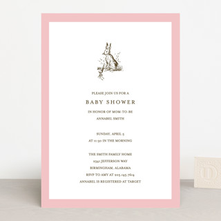 Classic Bunny Baby Shower Invitations