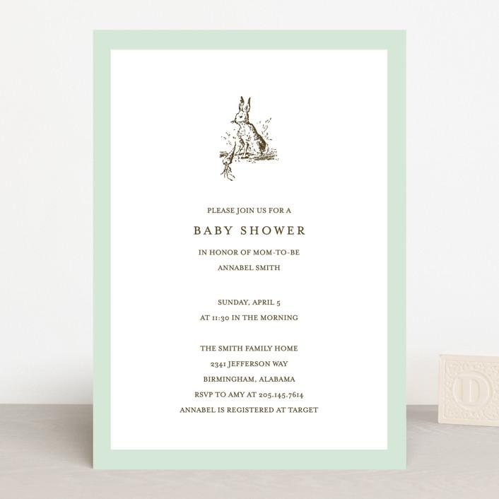 Clic Bunny Baby Shower Invitations