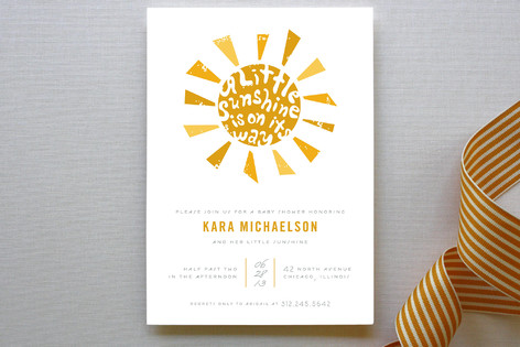 Little Sunshine Baby Shower Invitations