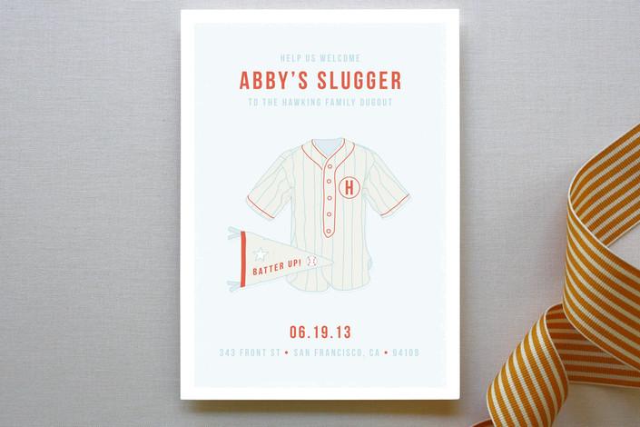 Little Sluggers Baseball Baby Shower Invitation